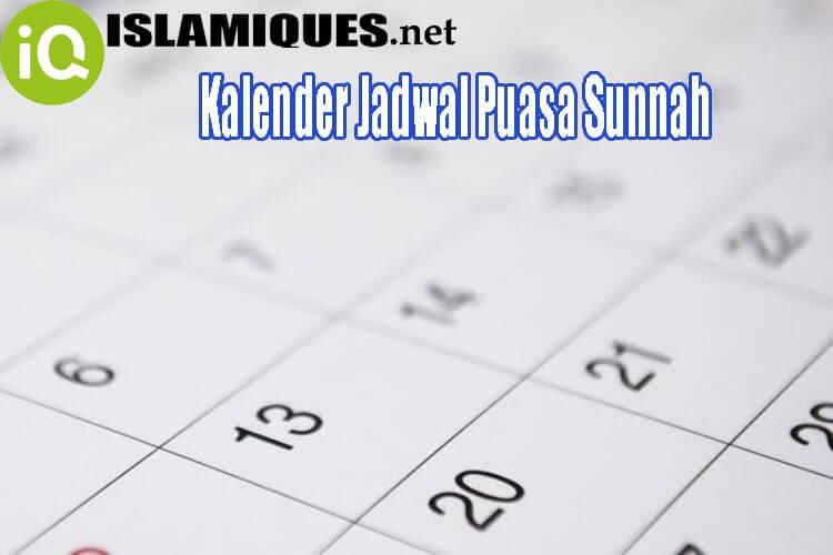Kalender Jadwal Puasa Sunnah